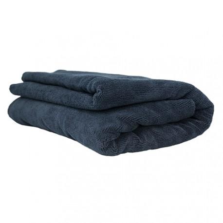 Elegant Edgeless Microfiber Towel, Black 130 x 77 cm