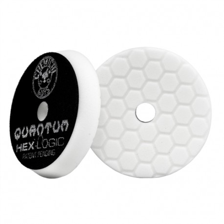 Hex-Logic Quantum Light-Medium Polishing Pad, White (6.5 Inch / 165 mm)