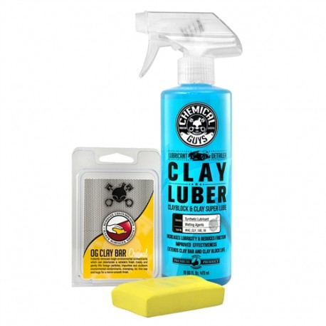OG Clay Bar & Luber Synthetic Lubricant Kit, Light/Medium Duty