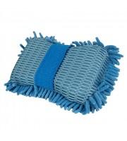 Ultimate Chenille Microfiber Two Sided Wash Sponge-měkká,mycí houba z modrého 100% Mikrovlákna s popruhem