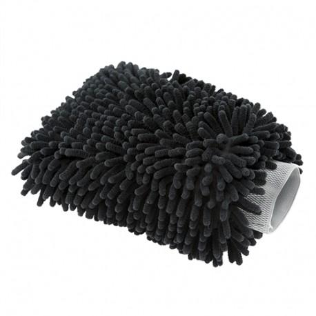 Chenille Microfiber Wash Mitt-měkká,černá mycí rukavice ze 100% Mikrovlákna