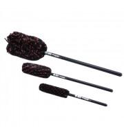 Wheel Woolies Wheel Brushes (3 Brushes)-speciální sada 3 kartáčů na čištění kol, mřížek a masek automobilů.
