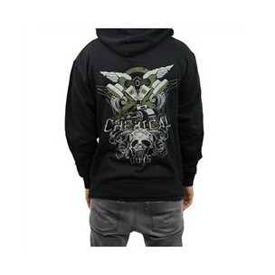 Detailing Troops Hooded Sweatshirt with Front Zipper