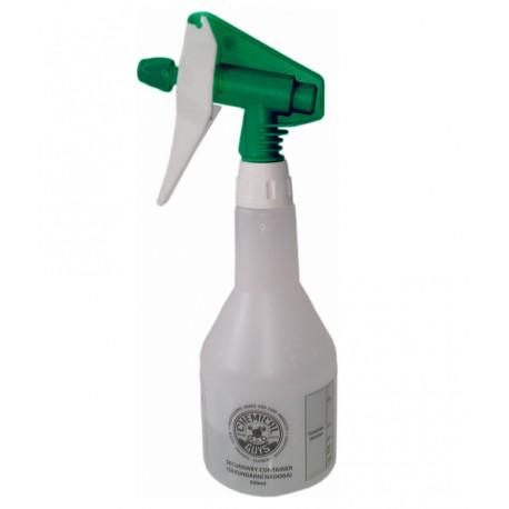 Dvoučiná rozprašovací hlavice s 0,5L láhví Zelená