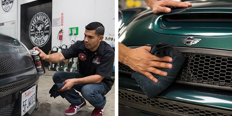rubber trim coating - tire shine - factory finish dressing
