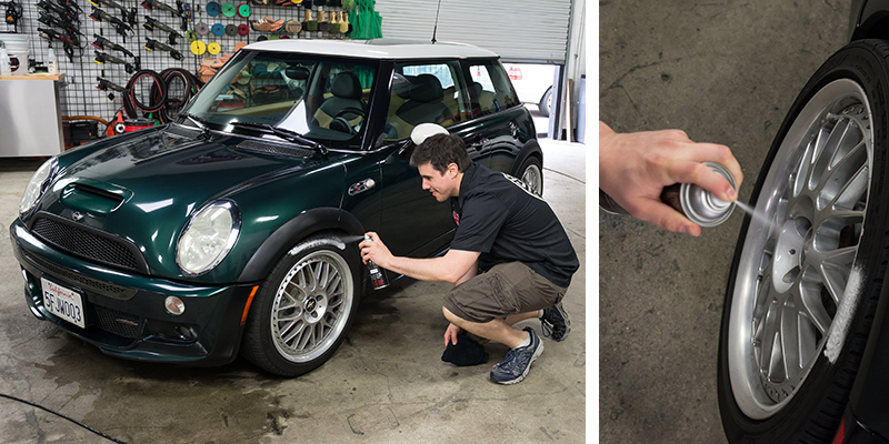 mini cooper - tire dressing - sprayable dressing